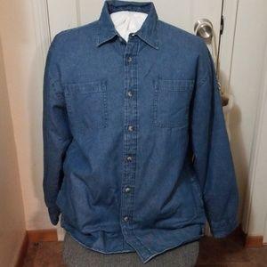 WRANGLER quilted denim jacket shirt